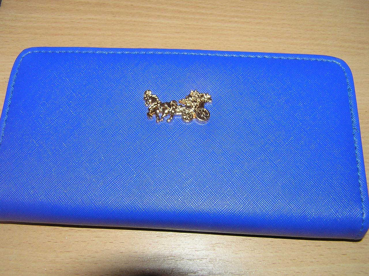 Кошелек-клатч женский 20,5х11х3 см. Темно-синий однотонный Карета