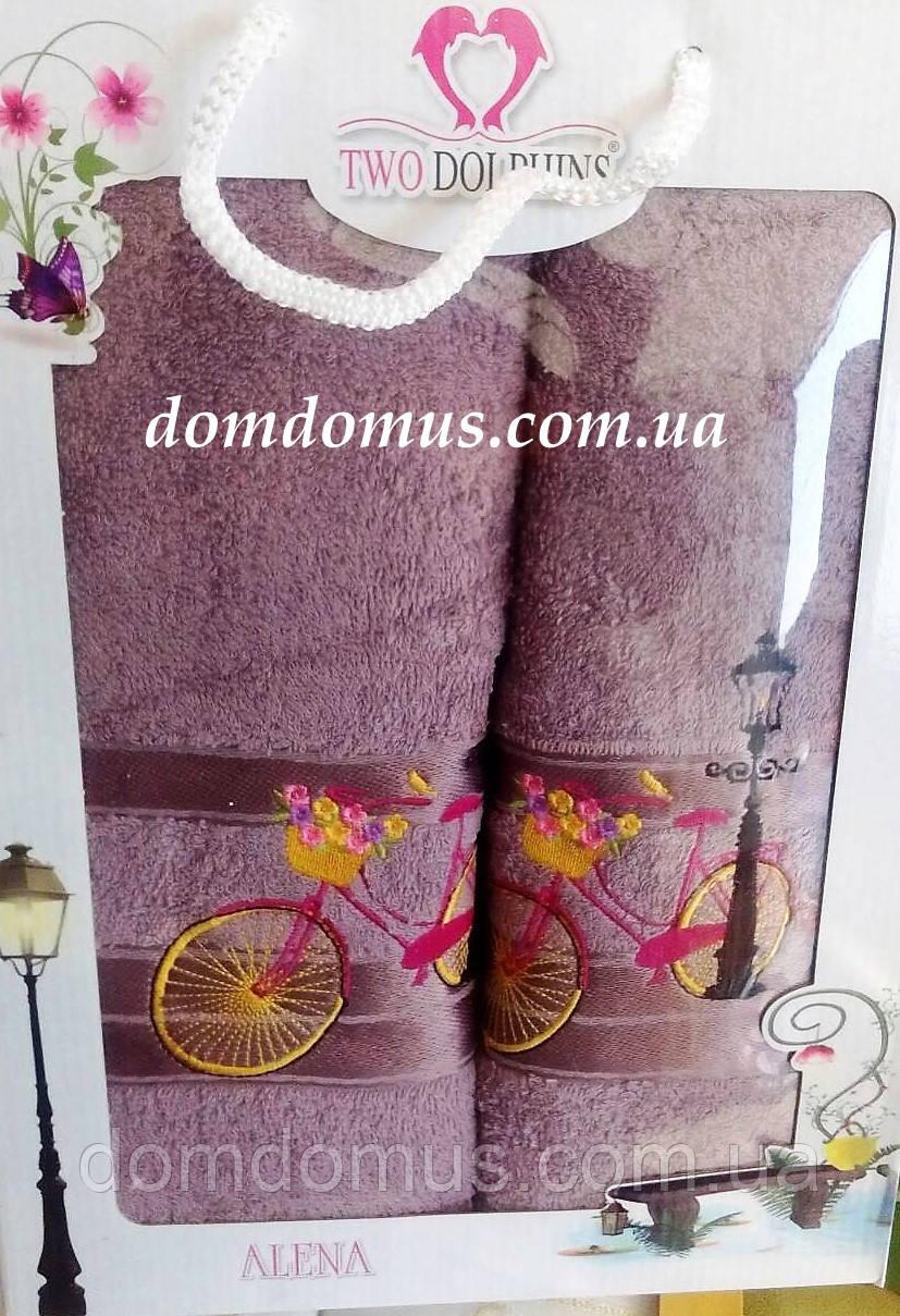"""Подарочный набор полотенец """"Alena"""" TWO DOLPHINS, Турция 1630"""