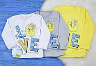 """Детская футболка с длинным рукавом """"Love"""" для девочек"""