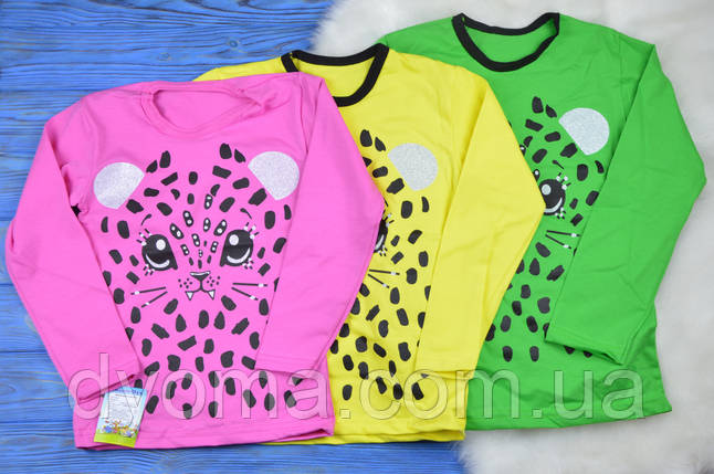 """Детская футболка с длинным рукавом """"Киса"""" для девочек, фото 2"""