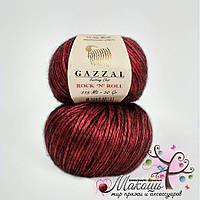 Пряжа Rock-n-roll Gazzal Рокнролл Газал, № 12833, красный