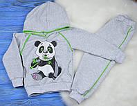 """Детский спортивный трикотажный костюм """"Панда"""" для мальчиков (двунитка)"""