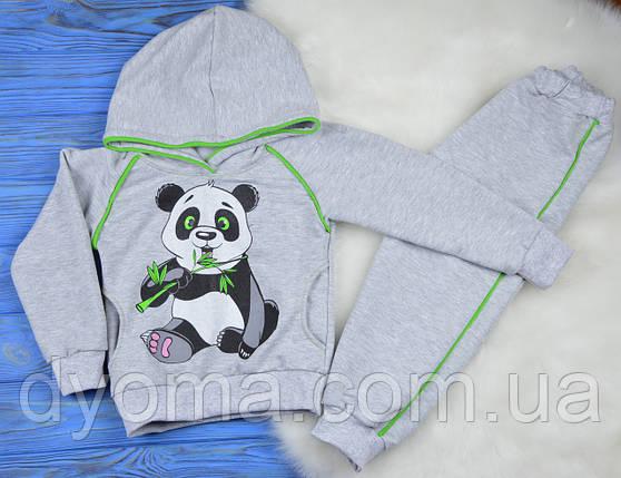 """Детский спортивный трикотажный костюм """"Панда"""" для мальчиков (двунитка), фото 2"""