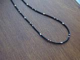 Каучуковая цепь с серебряным декором, фото 3