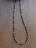 Каучуковая цепь с серебряным декором, фото 4