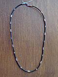 Каучуковая цепь с серебряным декором, фото 5