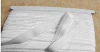 Косая бейка трикотажная(эластичная) белая