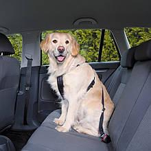 Автомобильная шлея M 50-70 см черная Trixie для собак