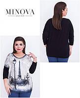 Туника женская большого размера   ТМ Minova (50-52, 52-54), фото 1