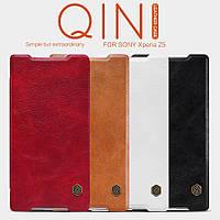 Кожаный чехол Nillkin Qin для Sony Xperia Z5 (4 цвета)