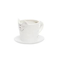 Котик Чашка с блюдцем 180 мл бел.
