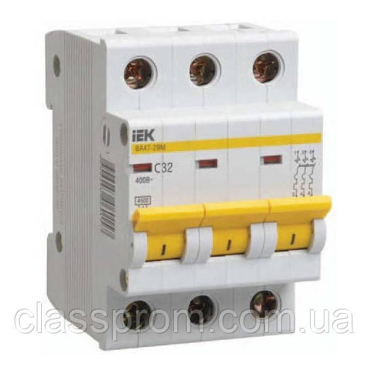 Автоматичний вимикач ВА47-29 3P 16A B IEK