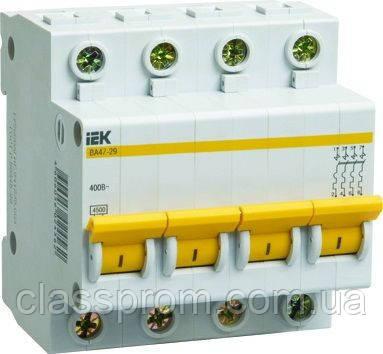 Автоматический выключатель ВА47-29 4P, 16 A, B IEK