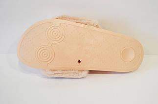 Шлепанцы с мехом пудровые Sopra 8-10, фото 3