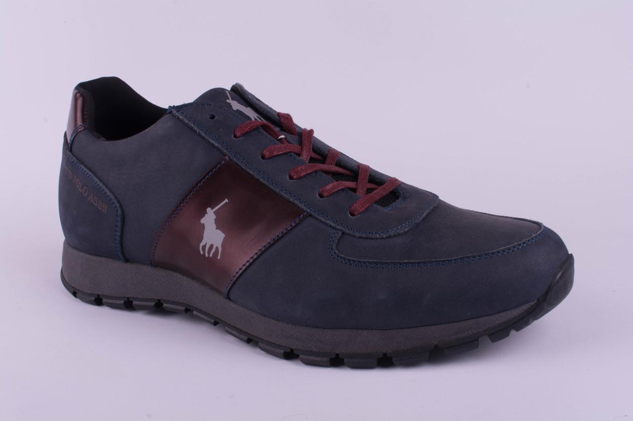 Мужские кроссовки Polo кожаные серые 40, 41, 42, 43, 44, 45