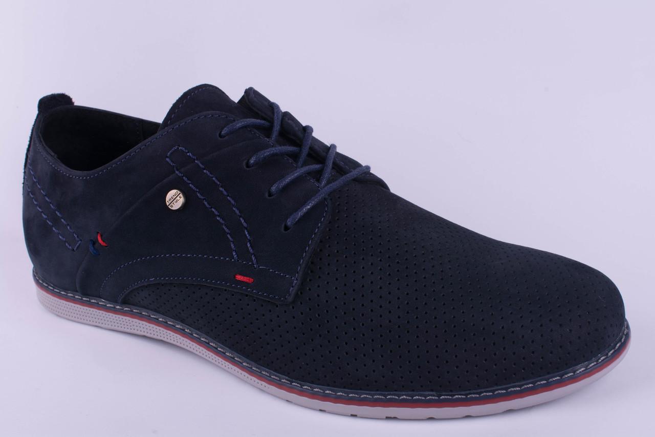 Мужские туфли замшевые синие в дырочку 40, 41, 42, 43, 44, 45