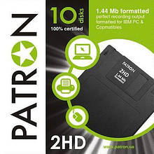 Дискета Patron 3.5, 1,44 Mb, paper box 10