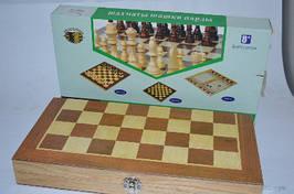 """16294-3 Игра настольная """"3-в-1 Шахматы, шашки, нарды"""" в деревянной коробке"""