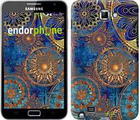 "Чехол на Samsung Galaxy Note i9220 Золотой узор ""678u-316"""