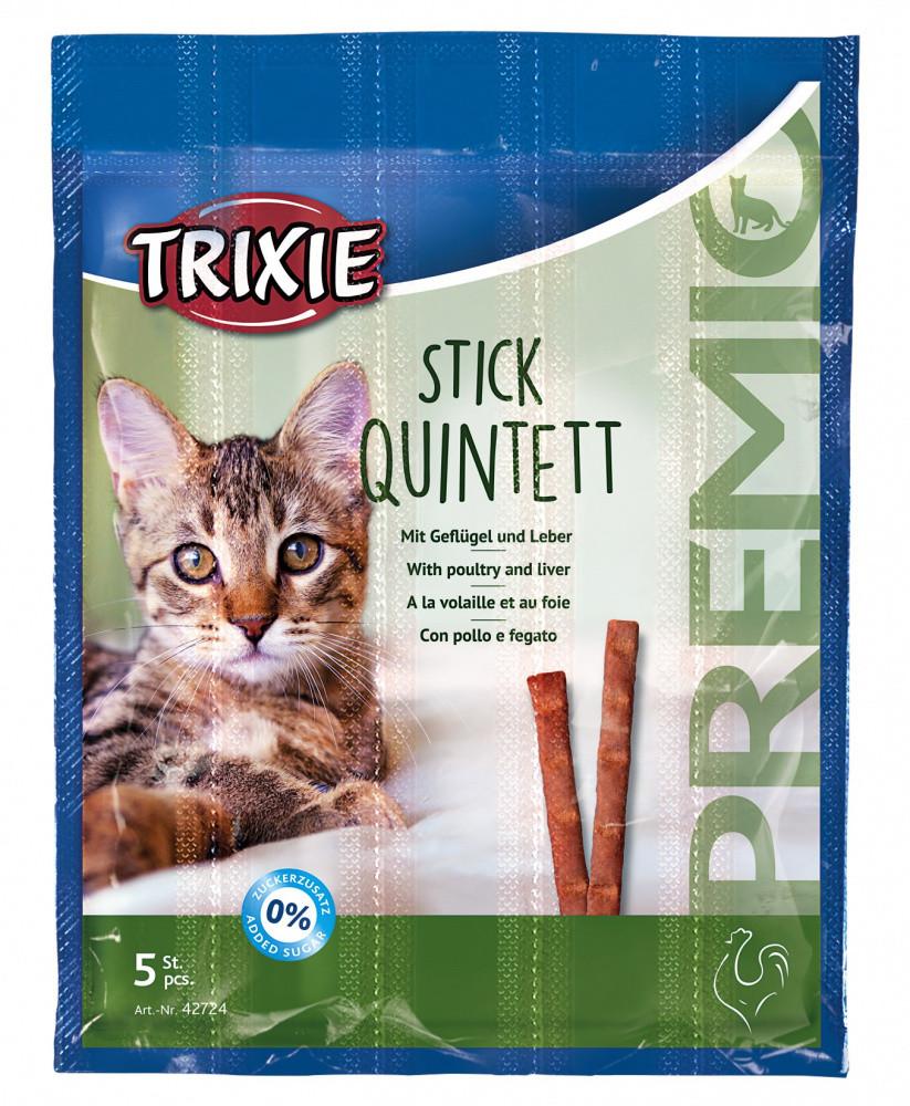 Лакомство Палочки с мясом птицы и печенью для кошек 5 шт Trixie