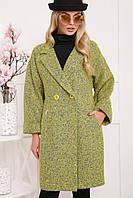 Оригинальное и стильное женское пальто с поясом