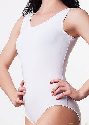 Детский белый купальник для танцев и гимнастики, фото 2