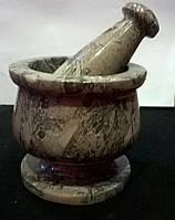 Ступка из натурального камня яшмы
