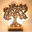 Круглая соляная лампа Денежное Дерево