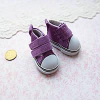 Обувь для кукол Кеды на Липучке 5*2.5 см СИРЕНЬ, фото 1