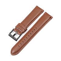 Ремешок для часов кожаный 6 секунд коричневый