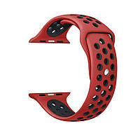 Ремешки для Apple Watch  Sport Nike 38mm красно-черный