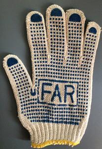 Рабочие перчатки х/б белая с ПВХ покрытием FAR 2-х сторонние