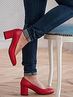 Женские кожаные туфли на невысоком каблуке . Возможен отшив в других цветах кожи и замша