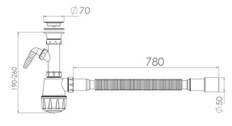 Сифон для кухонной мойки NOVA 1061, фото 2