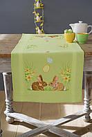 """PN-0156711 Набор для вышивания крестом (дорожка на стол) Vervaco """"Пасхальные зайцы"""""""
