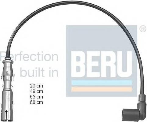 Провода зажигания комплект Skoda Octavia VW Golf 4 1.6-2.0 Beru ZEF1224