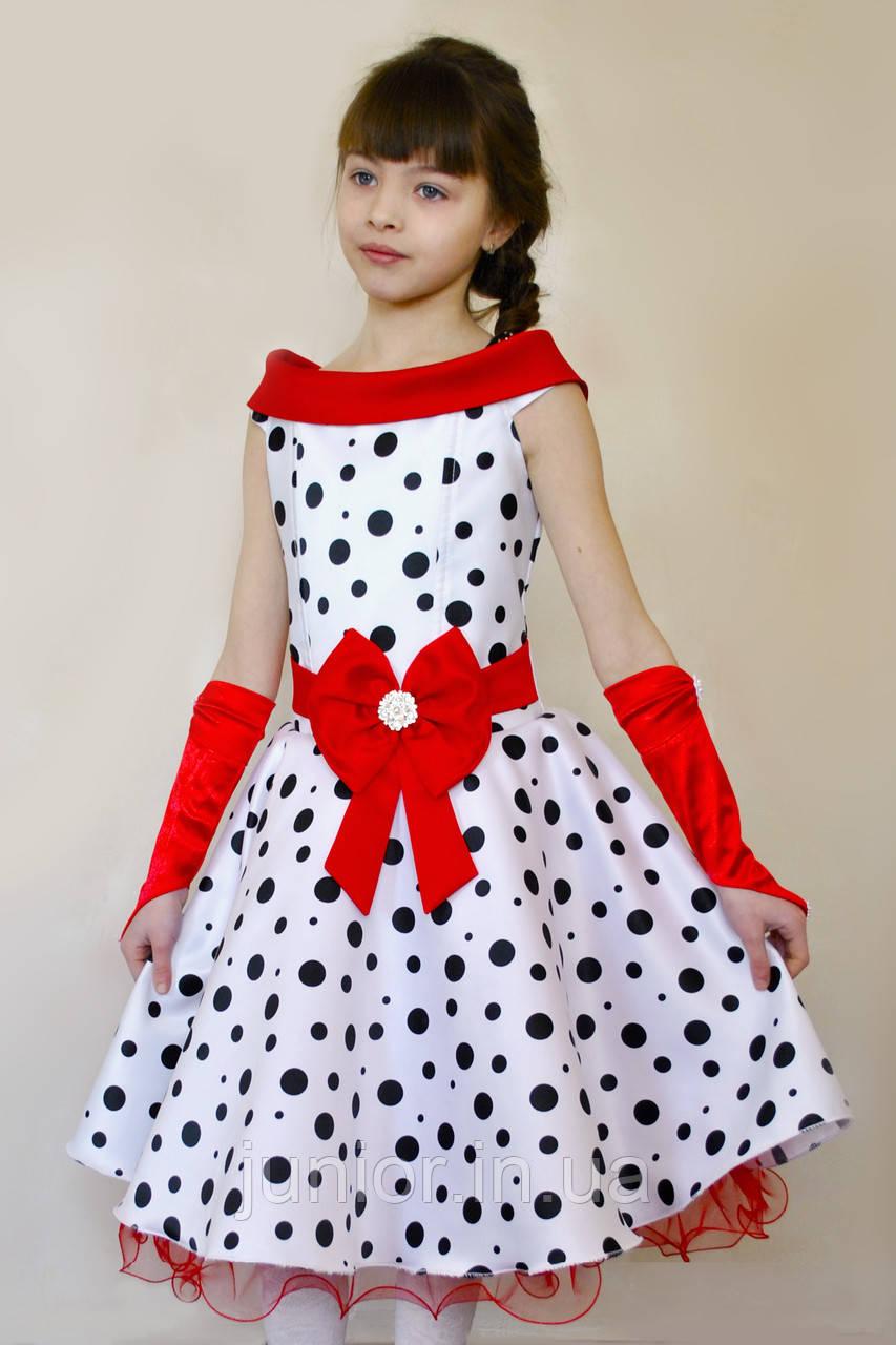 db1f8dffa7742c3 Нарядное платье в горох для девочки.Стиляги. - Оптово-розничный интернет- магазин