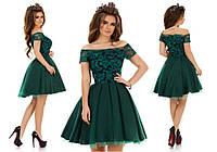 Вечерние платье с фатином