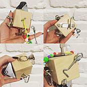 Развивающий БизиКубик, по методики Монтессори, размер 5х5 см