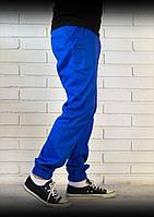 Хлопковые брюки джоггеры электрик