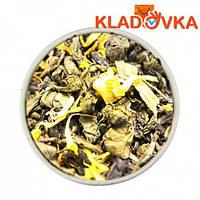 Смесь черного и зеленого чая с цедрой и лепестками 1000г.