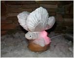 Светильник соляной бабочка, белка, гриб