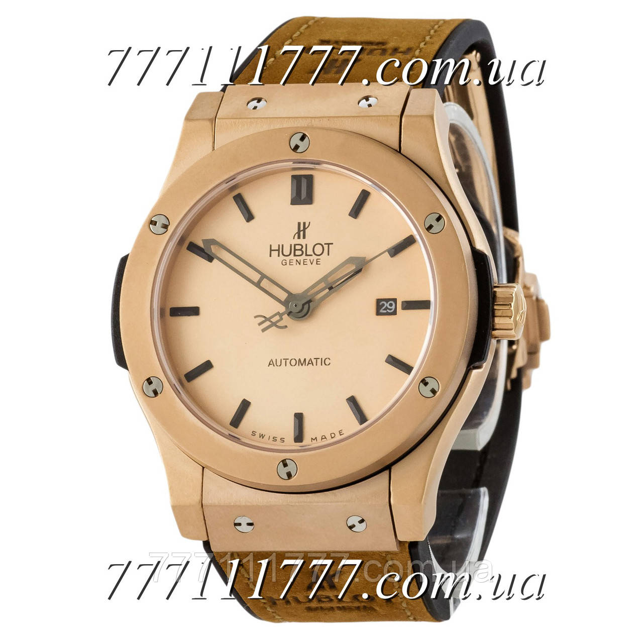 4359387c1a5d Часы мужские наручные Hublot Classic Fusion Automatic AAA Brown-Gold-Mate  гарантия