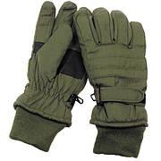 [Спец.ЦЕНА] Перчатки с утеплителем и манжетой тёмно-зелёные (S) MFH 15474B