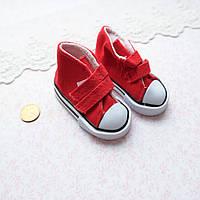Обувь для Кукол Кеды на Липучках 7*3 см КРАСНЫЕ