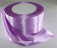 Лента атласная. Цвет - сиренево-розовый. Ширина - 5 см, длина - 23 м