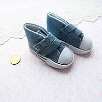 Обувь для Кукол Кеды на Липучках 7*3 см ДЖИНС