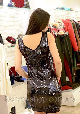 Платье женское черное Италия в пайетки, фото 2