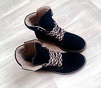 2640254b3581 Ботинки женские тимберленды Timberland натуральная замша осенние зимние  черные