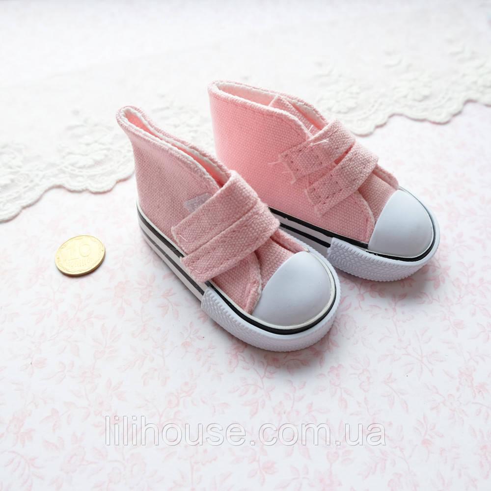 Обувь для кукол, кеды на липучках нежно-розовые - 7*3 см